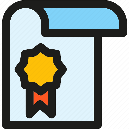 Diploma, achievement, award, badge, certificate, graduation, medal icon - Download on Iconfinder