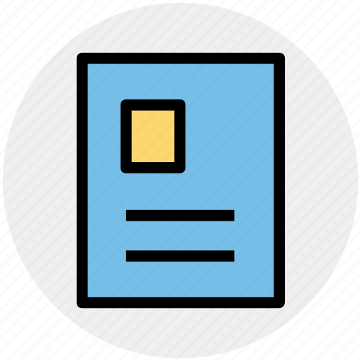 document, letter, letter head, official, paper work, profile paper icon