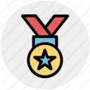 award, medal, prize, quality, reward, ribbon icon