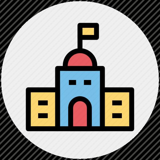 apartment, building, education, school, school building icon