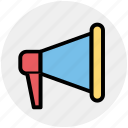 announcement, loud, megaphone, notification, sound, speaker icon