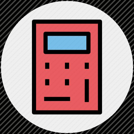 accounting, calculator, education, machine, math, mathematics icon