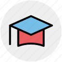 cap, degree, diploma, education, graduation, graduation cap icon