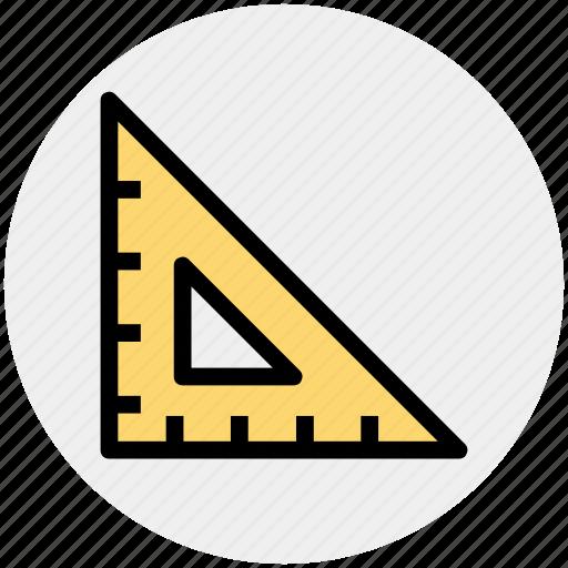 interface, math, mathematics, ruler, science, triangle icon