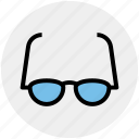 eye, glasses, optics, read, study, view icon