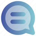 bubble, chat, education, message, online, talk icon