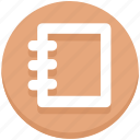 education, notebook, notepad, notes icon