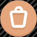 delete, dustbin, education, trash