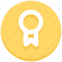 achievement, badge, education, medal, prize