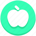 apple, education, fruit, learn icon