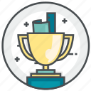 achievement, holiday, trophy, winner icon