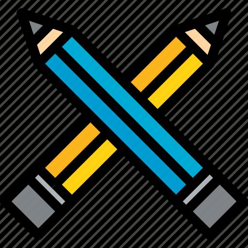 education, learning, pencil, school, study, university icon
