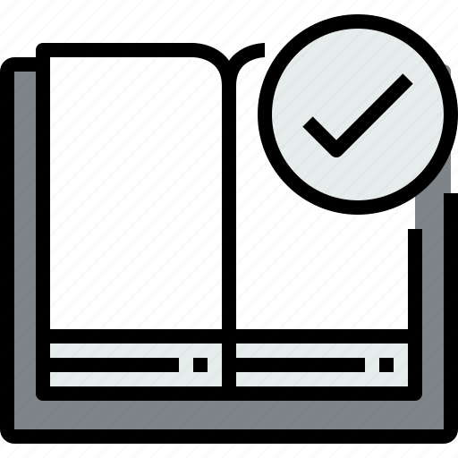 book, check, education, learning, open, school, study icon