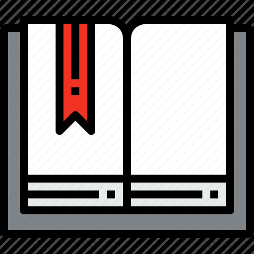 book, education, learning, mark, open, school, study icon