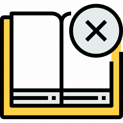 book, education, learning, open, school, study, x icon