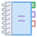 agenda, book, contacts, telephone icon