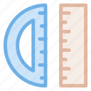 angle, degree, geometry, icon, mathematics, protractor, rulers, tool icon