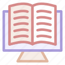 books, online, reading, study icon