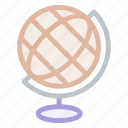 earth, geography, globe, materials, school, world icon