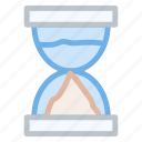 clock, hourglass, time, timer, wait icon