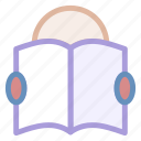 book, education, eyeglasses, learning, man, person, reading, studying, teaching