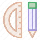 drawing, materials, math, mathematics, pen, school, tools icon