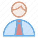 businessman, office, user, worker icon