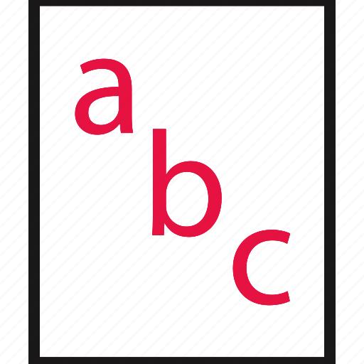 abc, learning, online, school icon