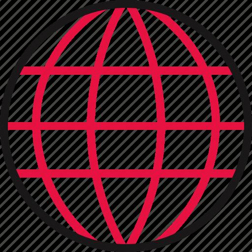 earth, globe, online, school, world icon