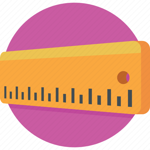 geometry, measuring, ruler, ruler scale, scale icon