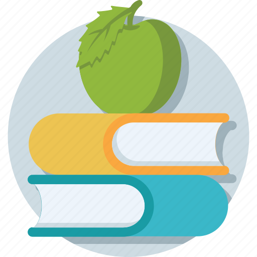 apple, book, education, knowledge, study icon