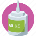 adhesive, glue, glue bottle, gum bottle, stationery icon