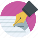 document, edit, pen, signature, write icon