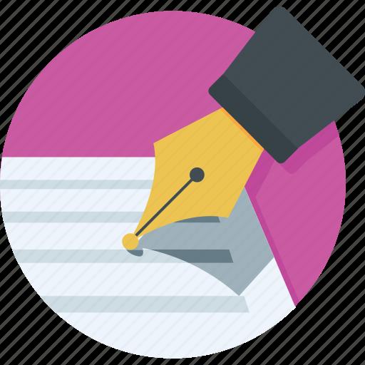document, edit, pen, signature, write icon