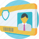 id, id card, identity, school badge, student card icon