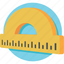 degree tool, drawing, geometry, measuring, protractor icon