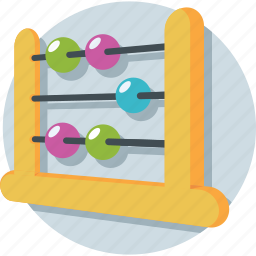 abacus, calculating, counting, counting frame, maths icon