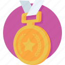 emblem, medal, position, prize, raking icon