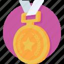 emblem, medal, position, prize, raking