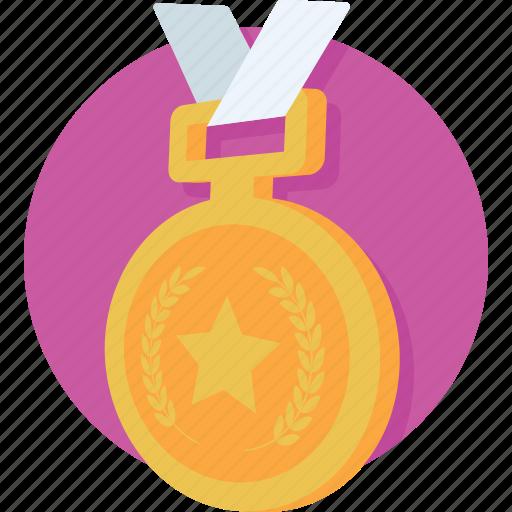 emblem, medal, position, prize, raking icon