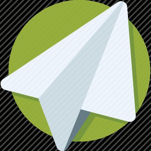 airplane, origami, paper, paper plane, send icon