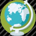 geography, globe, map, school supplies, table globe