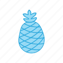 food, fruit, pineapple, tropical