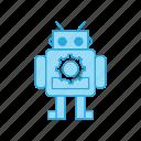 cute, exoskeleton, machin, robot icon