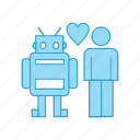 fashion, love, man, robot