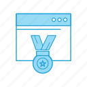 award, optimization, seo, web icon