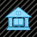building, education, library, school icon