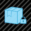 box, package, padlock, secure, security