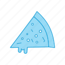food, of, piece, pizza, slice, whole icon