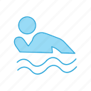 man, person, pool, service, swimming, water icon